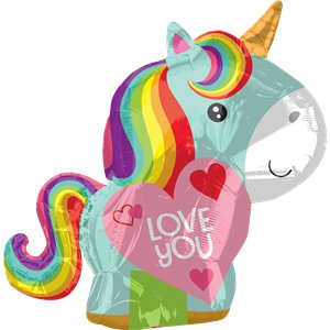 Unicorn Love Foil Balloon - 21