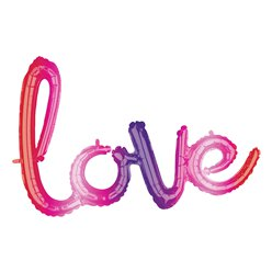 Ombre Love Foil Balloon