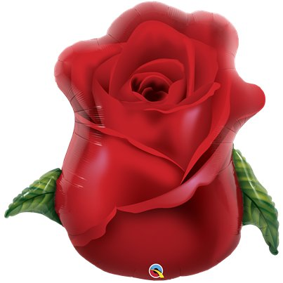 "Red Rose Bud Balloon  - 33"" Foil"