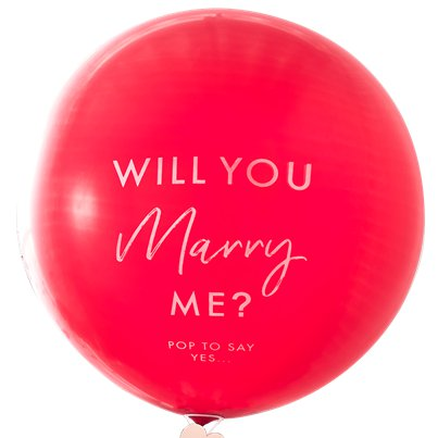 "Will You Marry Me' Balloon - 36"" Latex"