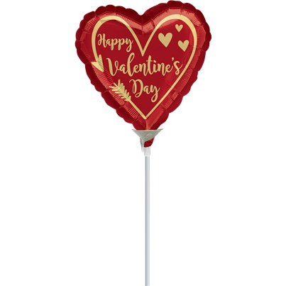 Arrow Heart Mini Airfill Balloon