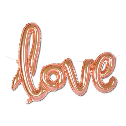 Rose Gold Love Foil Balloon