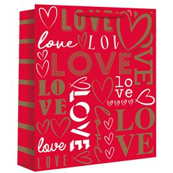 """Love"" Text Large Gift Bag"
