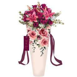 Romance Floral Medium Flower Bag
