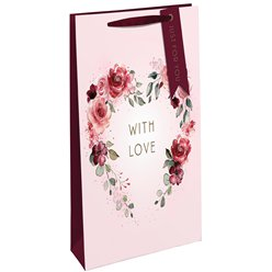 With Love Floral Bottle Bag