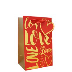 Love Text Perfume Gift Bag
