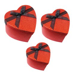 Mini Glitter Heart Gift Boxes
