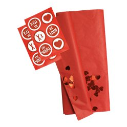 5 Sheets Tissue Paper - Includes 12 Stickers and Confetti
