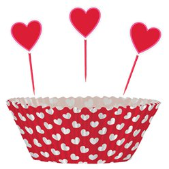 Heart Cupcake Cases & Picks
