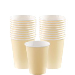 Ivory Cups - 266ml Paper Party Cups