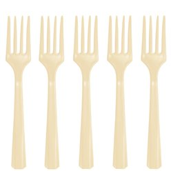 Ivory Reusable Forks - 20pk