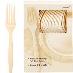Ivory Reusable Forks - 100pk