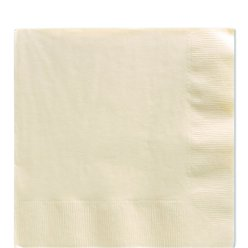 Ivory Luncheon Napkins - 33cm Square 2ply Paper