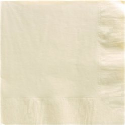 Ivory Dinner Napkins - 40cm Square 2ply Paper