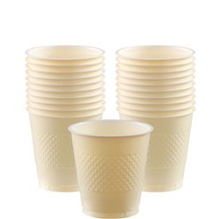 Ivory Cups - 266ml Plastic Party Cups