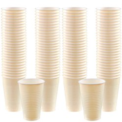 Ivory Cups - 355ml Plastic Party Cups