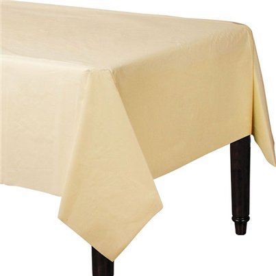 Ivory Plastic Tablecover - 1.4m x 2.8m