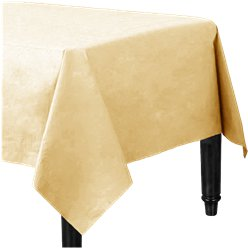 Ivory Plastic Lined Paper Tablecover - 1.4m x 2.8m