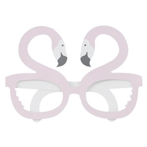 Good Vibes Flamingo Shaped Party Glasses