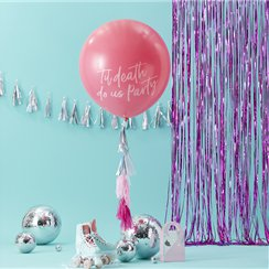 "Good Vibes Giant Pink 'Till Death Do Us Party' Balloon Kit - 36"" Latex"