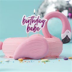 Good Vibes Hot Pink Glitter 'Birthday Babe' Candle