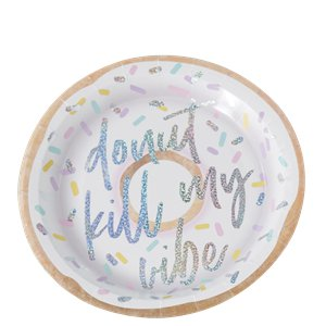 Good Vibes Iridescent 'Donut Kill My Vibe' Paper Plates - 25cm