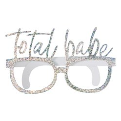Good Vibes 'Total Babe' Iridescent Party Glasses