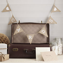 "A Vintage Affair Hessian ""Cards"" Bunting - 1.5m"