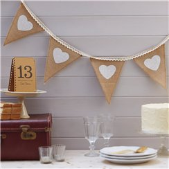 A Vintage Affair Hessian and Lace Bunting - 2.5m