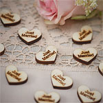 A Vintage Affair 'Just Married' Heart Wooden Wedding Confetti