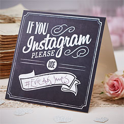 A Vintage Affair 'If You Instagram' Wedding Table Signs