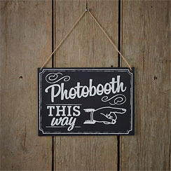 A Vintage Affair Chalkboard Wedding Photo Booth Sign