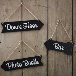 A Vintage Affair Wooden Arrow Signs