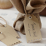 A Vintage Affair Wedding Luggage Tags - Brown