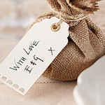 A Vintage Affair Wedding Luggage Tags - Ivory