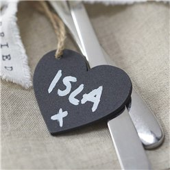 A Vintage Affair Mini Chalkboard Heart Tags