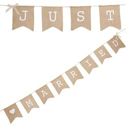 A Vintage Affair Hessian 'Just Married' Wedding Bunting - 2.5m
