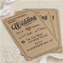 A Vintage Affair Wedding Reception Invitations