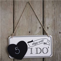 A Vintage Affair 'I Do' Wedding Sign - 27cm