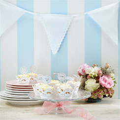 Vintage Lace Fabric Bunting - 3.5m