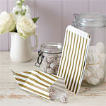 Vintage Lace Gold Stripe Candy Bags - 19.5cm