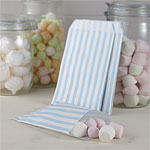 Vintage Lace Blue Stripe Candy Bags - 19.5cm