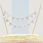 Vintage Lace 'Just Married' Wedding Cake Bunting - White