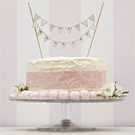 Vintage Lace 'Just Married' Wedding Cake Bunting - Ivory