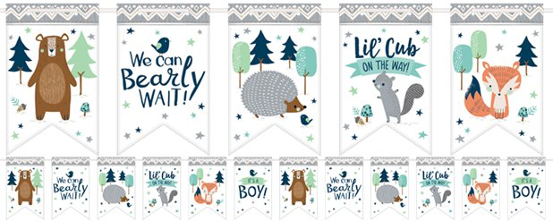 Bearly Wait Paper Bunting - 4.6m