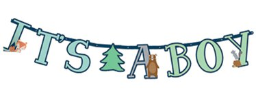 Bearly Wait Jumbo Letter Banner - 1.8m