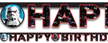 Star Wars 'Happy Birthday' Letter Banner -