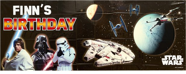 Star Wars Giant Personalised Birthday Banner - 1.2m