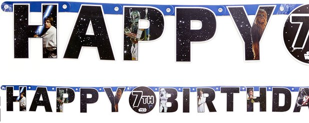 Star Wars Happy Birthday Letter Banner - 1.65m Add an Age Letter Banner
