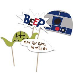 Star Wars Paper Photo Props